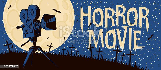 istock poster for horror movie festival scary cinema 1250479917