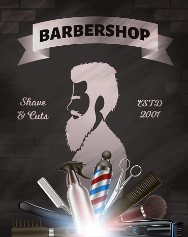 印刷用のポスター理髪店広告画像 - 3Dのベクターアート素材や画像を多数ご用意