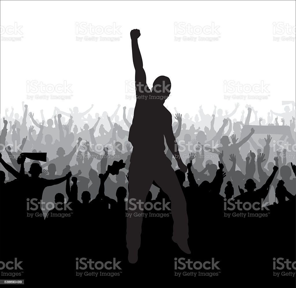 Poster for sports and concerts vector art illustration