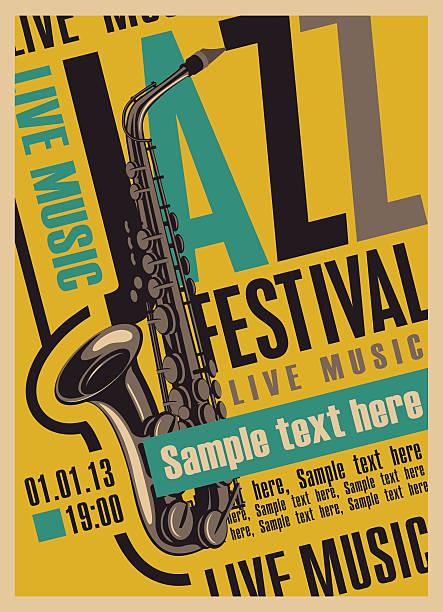 poster für die jazz festival - avantgarde stock-grafiken, -clipart, -cartoons und -symbole