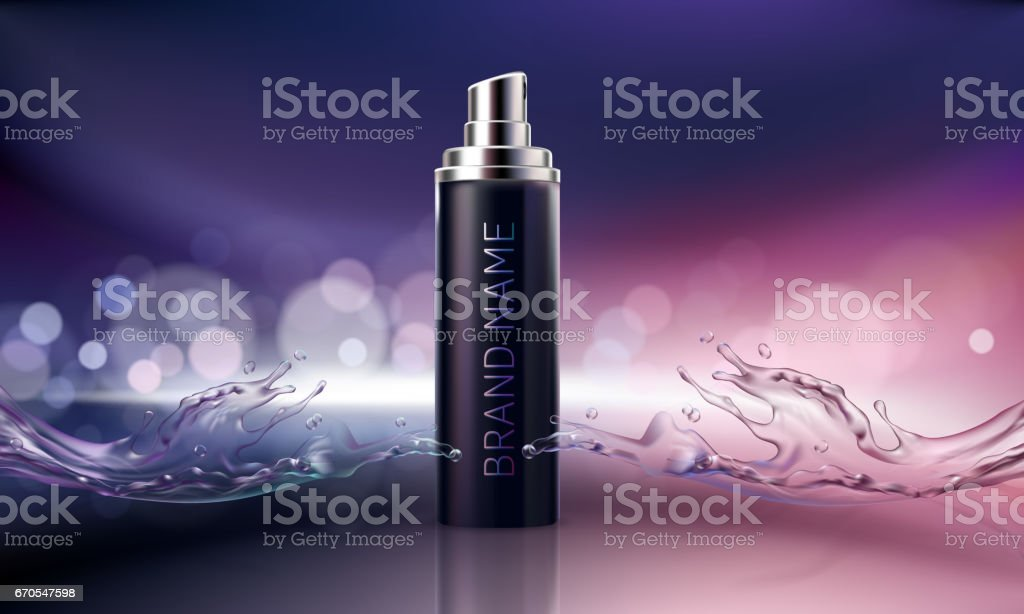 Poster for the promotion of cosmetic moisturizing and nourishing premium product vector art illustration