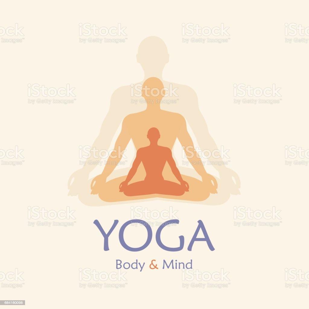 Poster for yoga studio or meditation class. Vector yoga illustration poster for yoga studio or meditation class vector yoga illustration - immagini vettoriali stock e altre immagini di alimentazione sana royalty-free