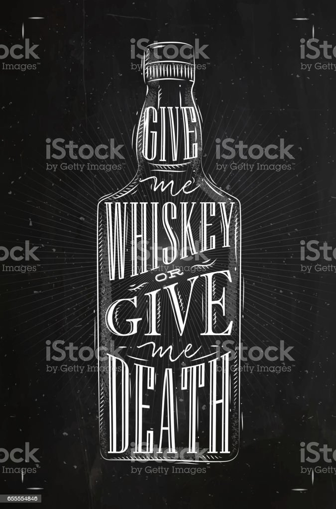 Poster give me whiskey vector art illustration