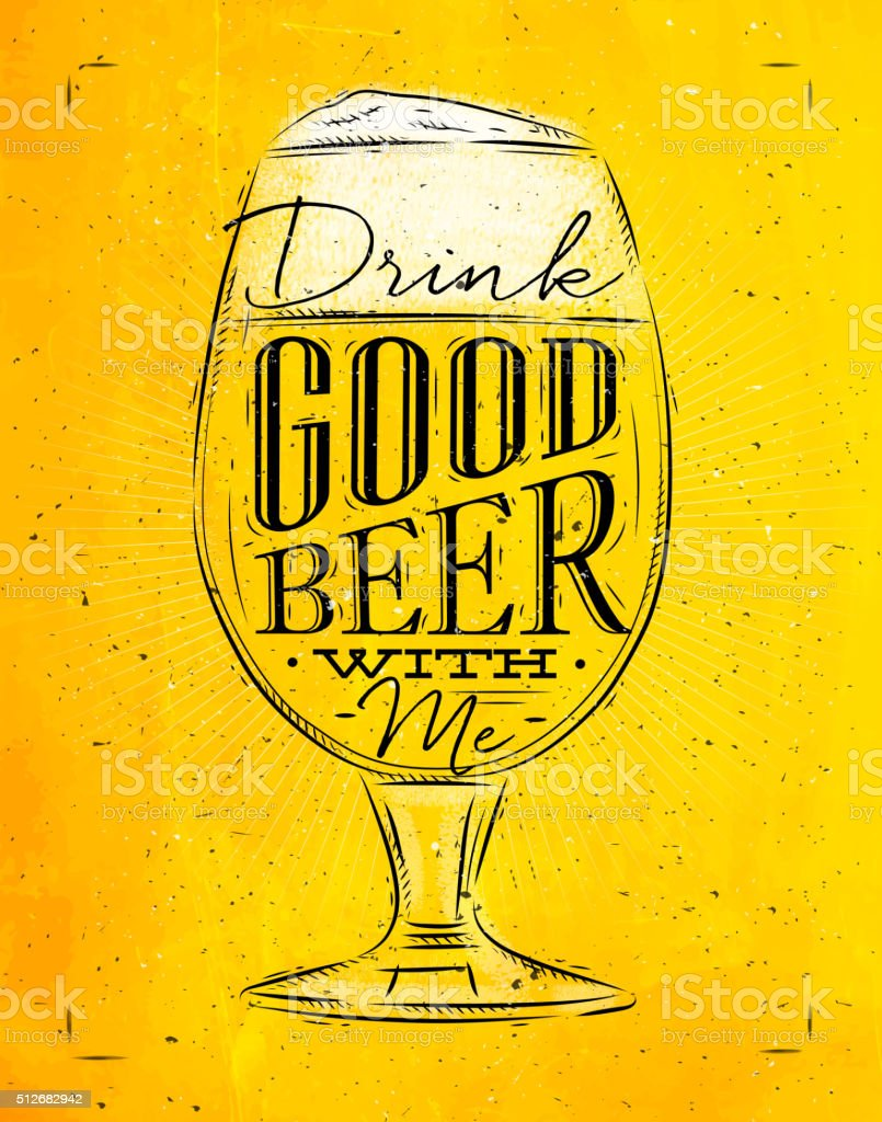 Poster Good Beer Yellow Royalty Free Stock Vector Art Amp