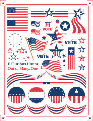 Poster illustration of American centered patriotic themes
