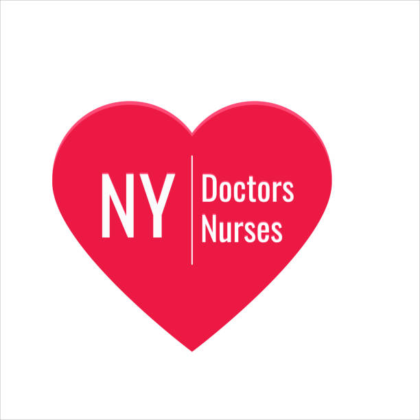 ポスター、碑文nyの人の親切のための医師や看護師が大好きのイラスト - corona newyork点のイラスト素材/クリップアート素材/マンガ素材/アイコン素材