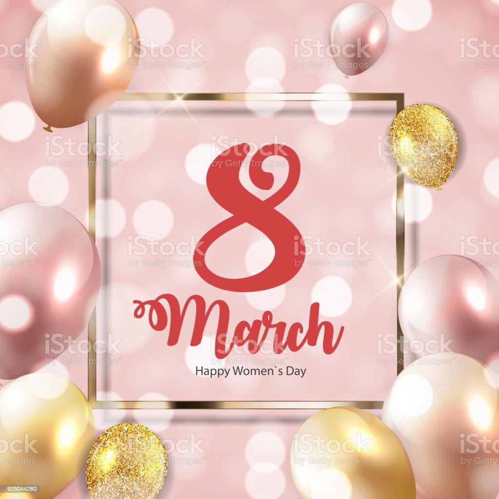 Plakat Glücklich Weltfrauentag Tag 8 März Floralen Gruß Karte ...