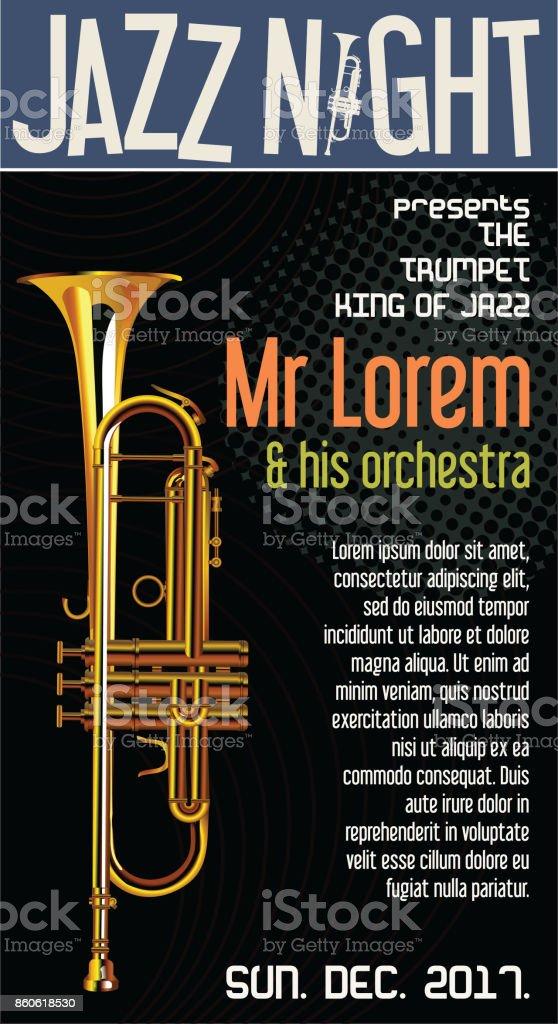 Poster Jazz Festival Trumpet vector illustration vector art illustration