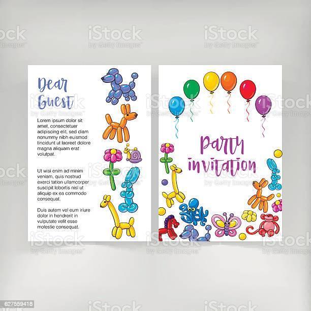 Poster leaflet invitation design with twisted balloon animals vector id627559418?b=1&k=6&m=627559418&s=612x612&h=icwnzwhse1egrfin8o1pdgf5iqlyyck fpwzckzrsdy=