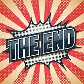Poster letter design, The End, Vector illustration