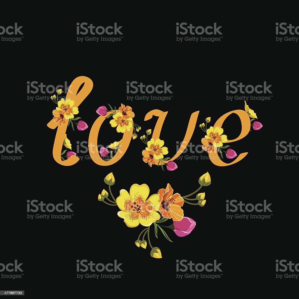Poster Love royalty-free stock vector art