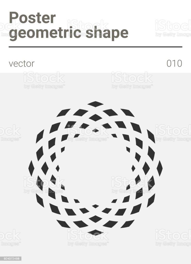 Poster minimal geometric vector shape vector art illustration