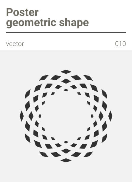 poster minimal geometric vector shape - diamond tattoos stock illustrations, clip art, cartoons, & icons