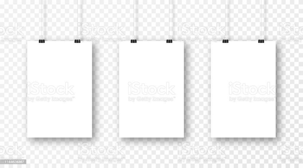 Poster Mockup Isolated On Transparent Background Realistic