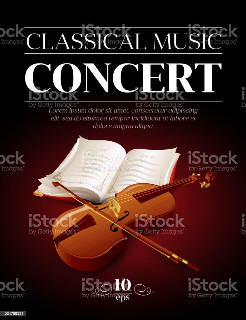 Cartel De Concierto De Música Clásica Ilustración Vectorial - Arte ...