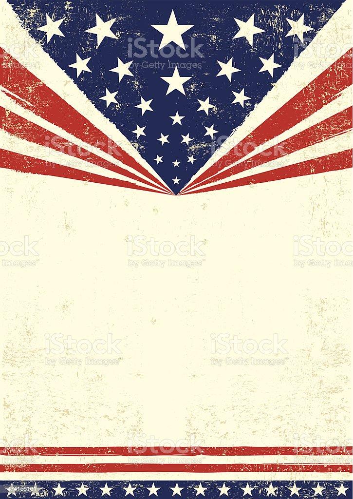 Poster of America vector art illustration