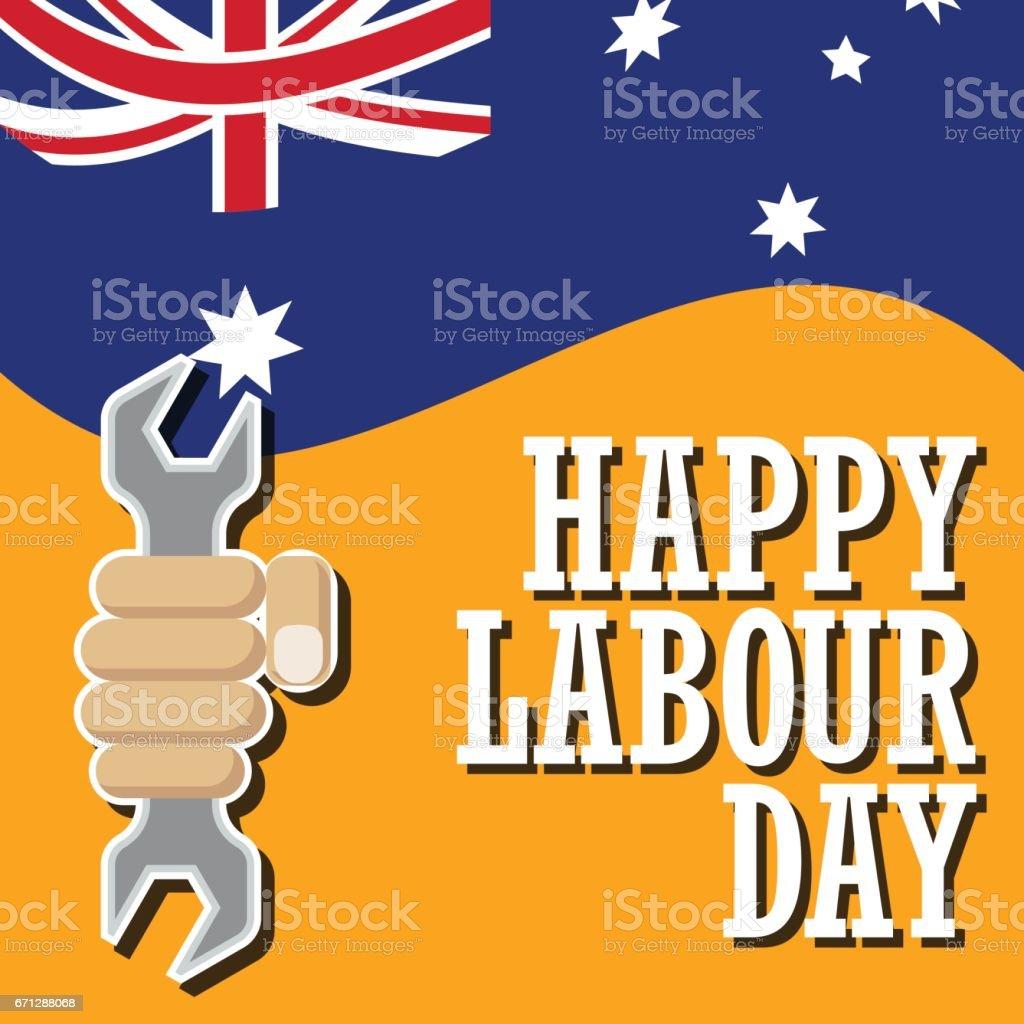 cartel de feliz día del trabajo, día de trabajo, venta día de mayo, 1 de mayo. Ilustración de vector - ilustración de arte vectorial