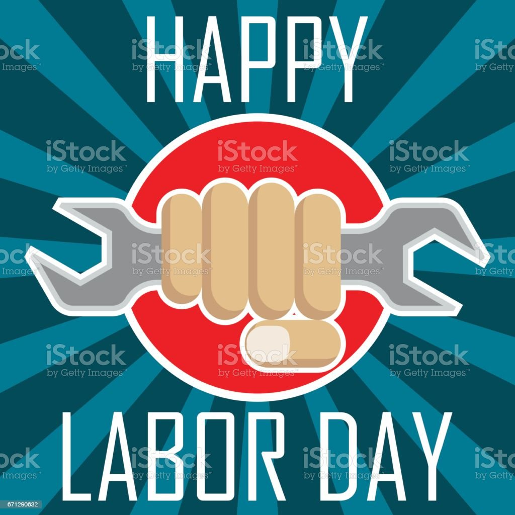 Poster Of Happy Labor Day Labour Day Sale Day May Day 1 May Vector