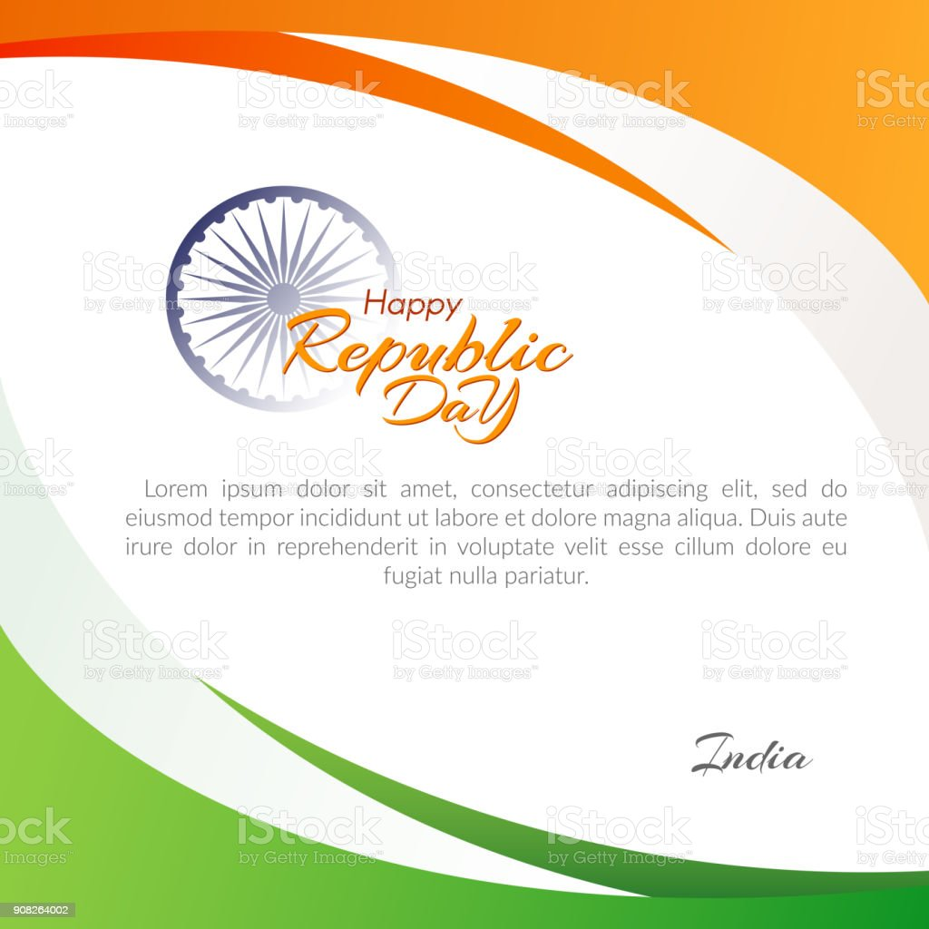 Poster Of The Happy Republic Day In India On January 26 Template