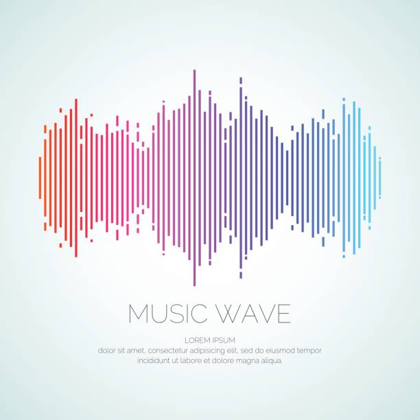 Poster of the sound wave from equalizer vector art illustration