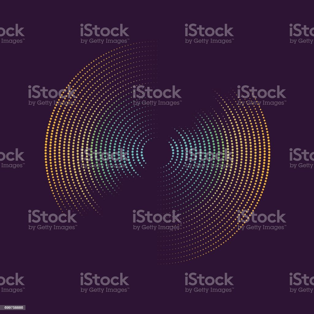 Poster of the sound wave. Vector illustration on dark background vector art illustration