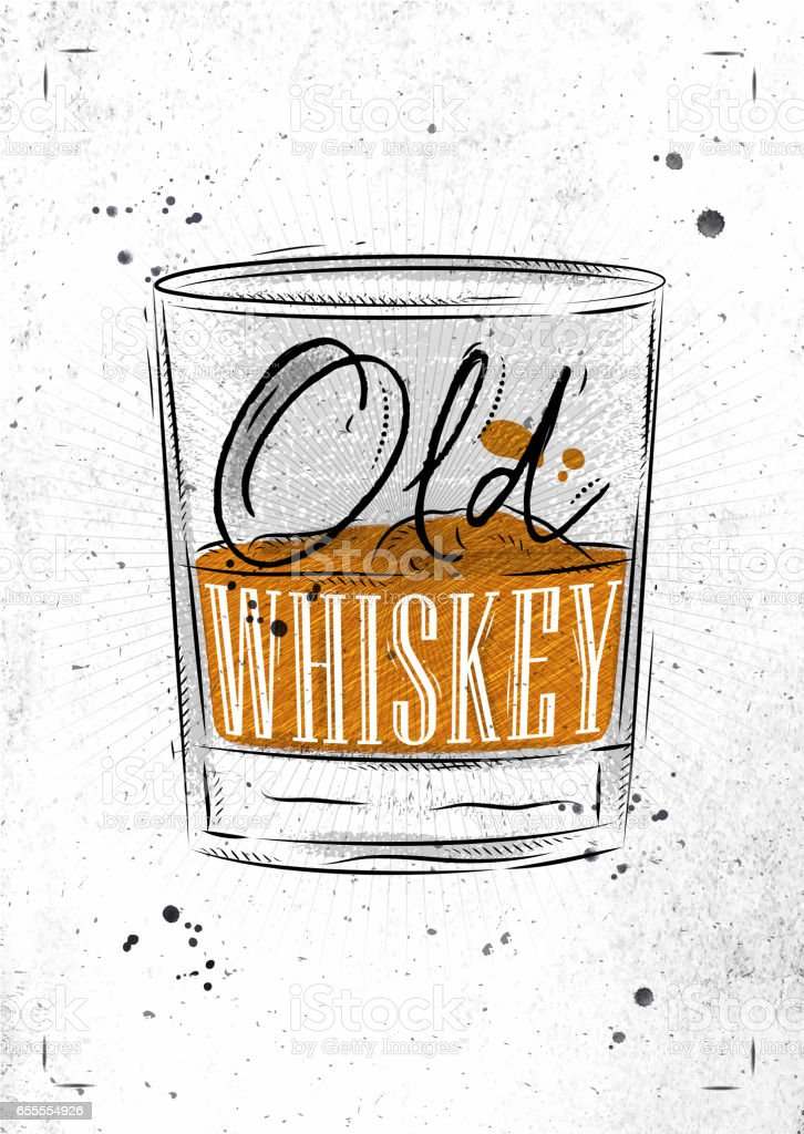 Poster old whiskey paper vector art illustration
