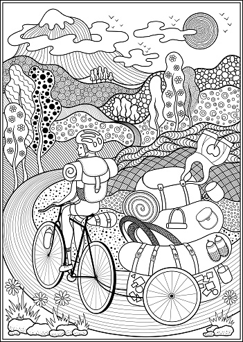 Poster on a bicycle theme.