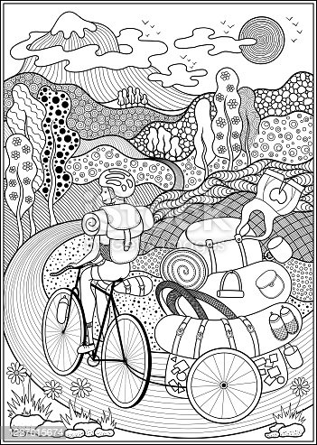 istock Poster on a bicycle theme. 1227015674