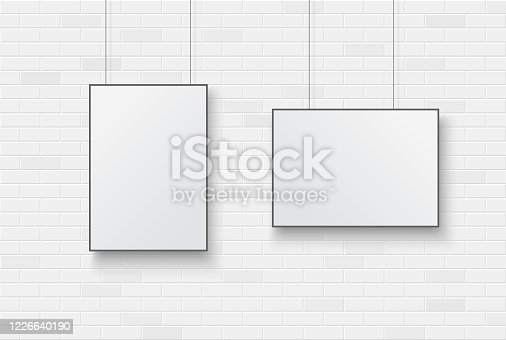 istock Poster on brick wall 6 1226640190