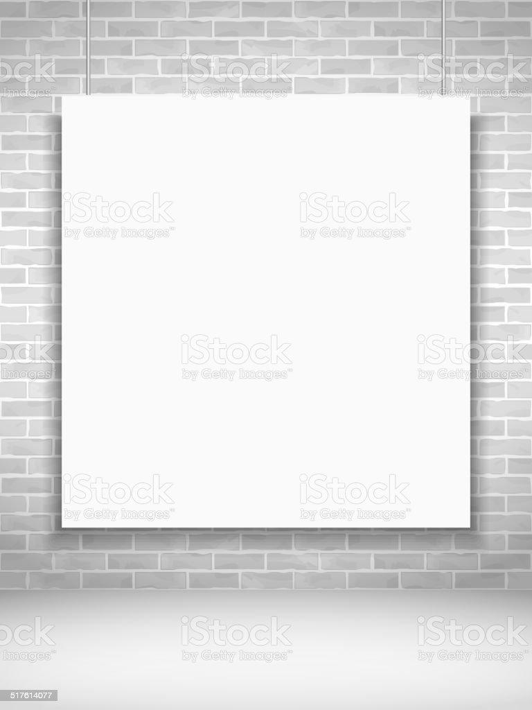 Poster na Parede de Tijolo - ilustração de arte vetorial