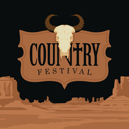 poster or banner for country music festival