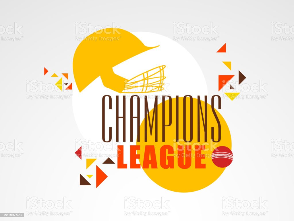 Poster Or Banner For Cricket Champions League Stock