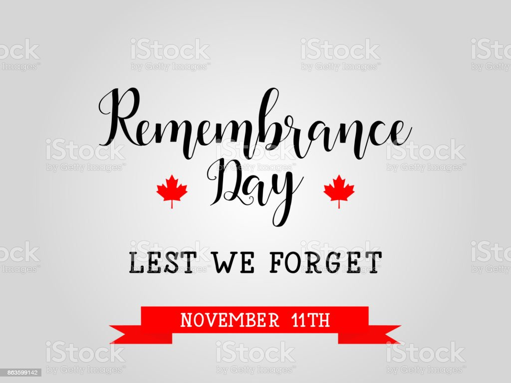 poster or banner of Remembrance Day of Canada 11 november vector art illustration