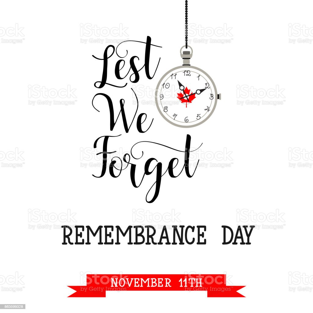 poster or banner of Remembrance Day of Canada 11 november. vector art illustration