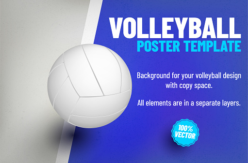 Poster or invitation template with basketball ball