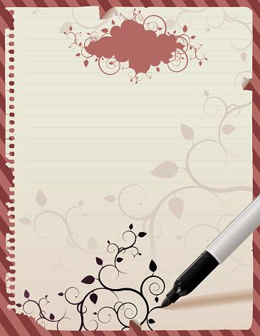 Poster Sheet letter notebook