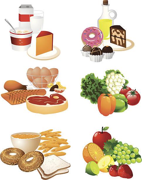 speisen für gruppen - lachskuchen stock-grafiken, -clipart, -cartoons und -symbole