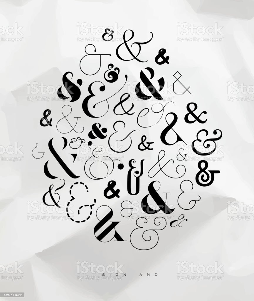 Poster Symbol Ampersand Stock Illustration - Download Image