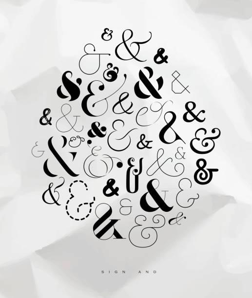 stockillustraties, clipart, cartoons en iconen met poster symbool van het en-teken - borden en symbolen