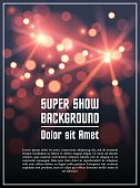 Poster template background in vector