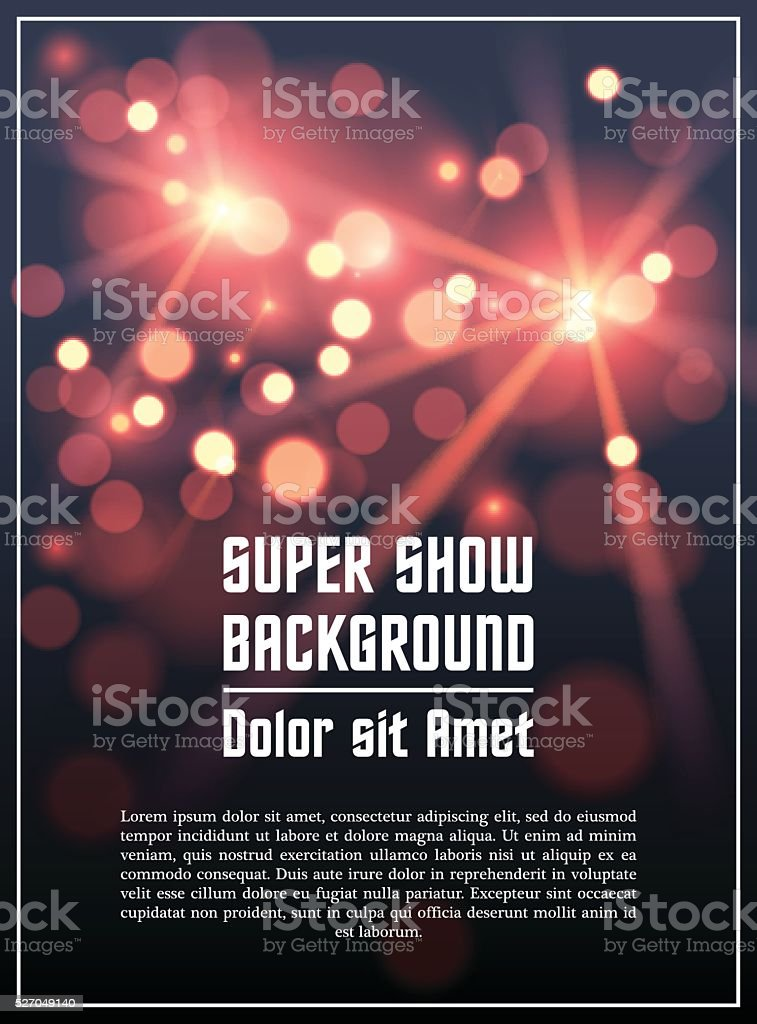 Poster template background vector art illustration