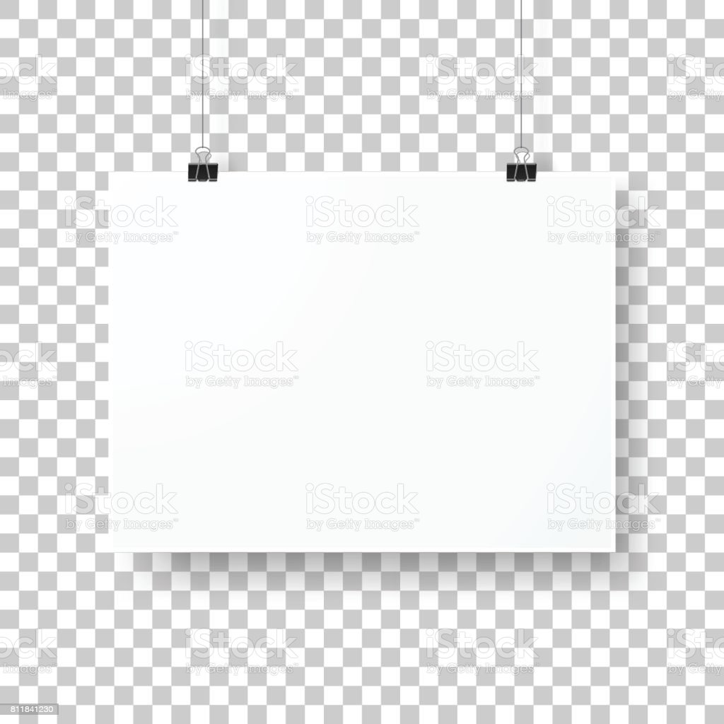 空白の背景に分離されたポスター テンプレート からっぽのベクター