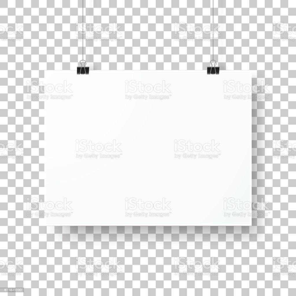 Modèle d'affiche isolé sur fond blanc - Illustration vectorielle
