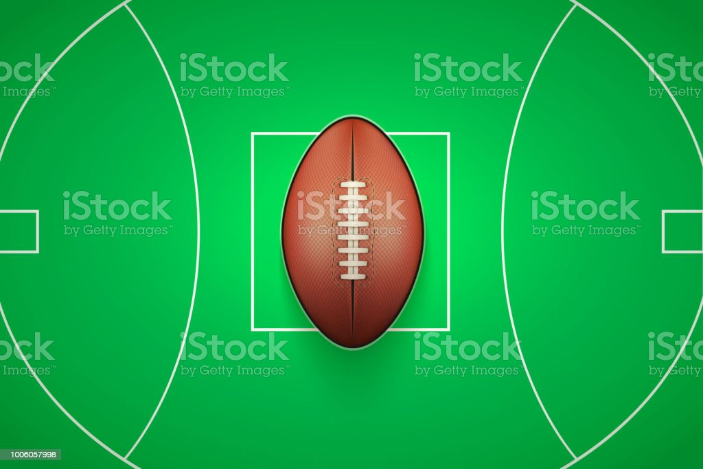 Poster Template of Australian rules football Ball vector art illustration