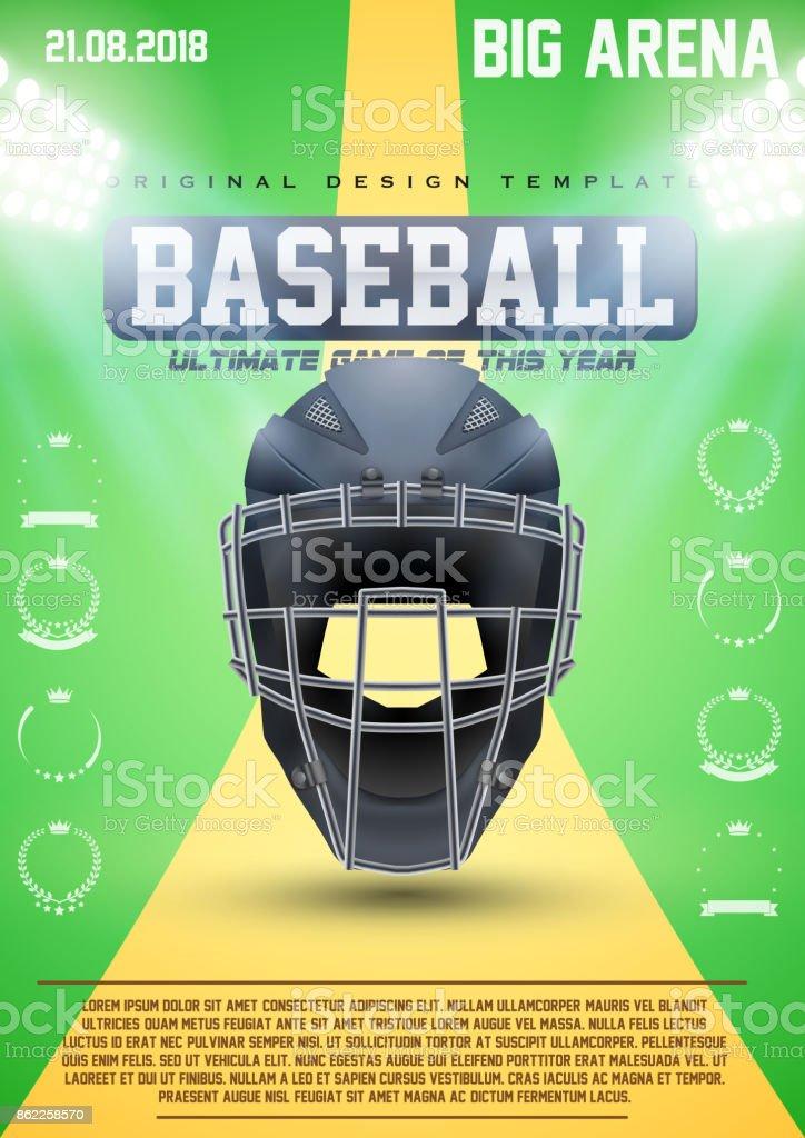 Poster Template of Baseball vector art illustration
