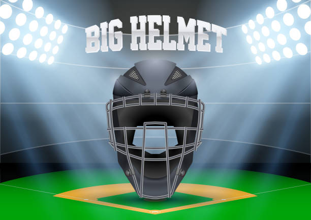 poster template of baseball - baseball stadium stock illustrations, clip art, cartoons, & icons