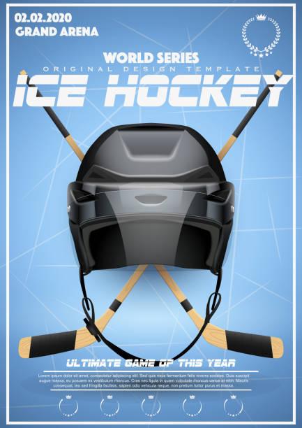 plakat-vorlage von eishockey-turnier - hockey stock-grafiken, -clipart, -cartoons und -symbole