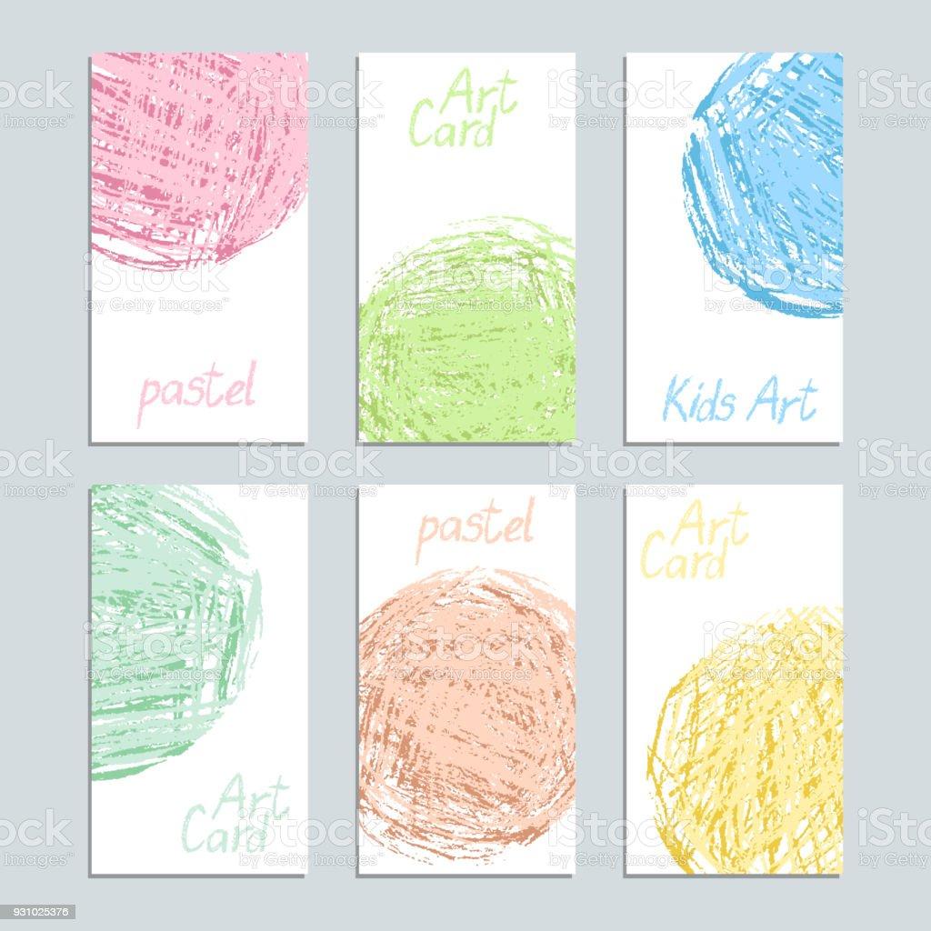 Plantilla De Cartel Con Tarjeta De Tiza De Color Pastel Suave Forma ...
