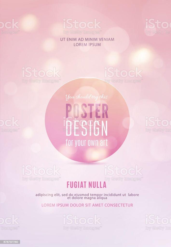 Modèle d'affiche avec fond de lumières bokeh. modèle daffiche avec fond de lumières bokeh – cliparts vectoriels et plus d'images de abstrait libre de droits