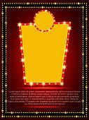 Poster Template with retro banner. Design for presentation, concert, show. Vector illustration